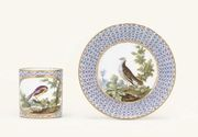 A SEVRES COFFEE-CUP AND SAUCER (GOBELET 'LITRON' ET SOUCOUPE, 2 EME GRAN