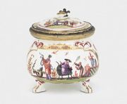A MEISSEN SILVER-GILT MOUNTED CHINOISERIE CRE