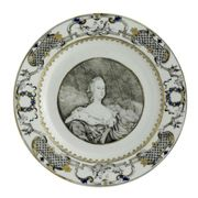 CHINESE EXPORT PORTRAIT PLATE
