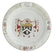 A CHINESE EXPORT ARMORIAL LARGE BASIN