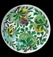 A 'FAMILLE-VERTE' BISCUIT-ENAMELLED DISH