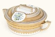 A VIENNA CIRCULAR TWO-HANDLED TUREEN AND COVER