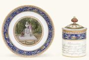 MEISSEN (MARCOLINI) CENTENARY CUP, COVER AND STAND