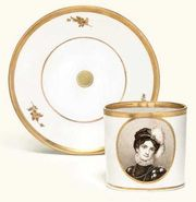 A NYMPHENBURG ROYAL PORTRAIT COFFEE-CAN AND SAUCER