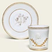 F?RSTENBERG PORTRAIT COFFEE-CUP AND SAUCER
