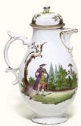 VOLKSTEDT BALUSTER COFFEE-POT AND COVER