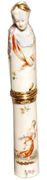 MEISSEN GILT-METAL MOUNTED INSCRIBED CYLINDRICAL ETUI