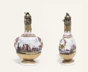 MEISSEN GILT-METAL MOUNTED SCENT-BOTTLE AND COVER