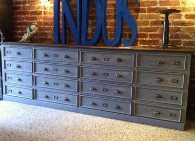 Meuble de style industriel - Petit meuble style industriel ...