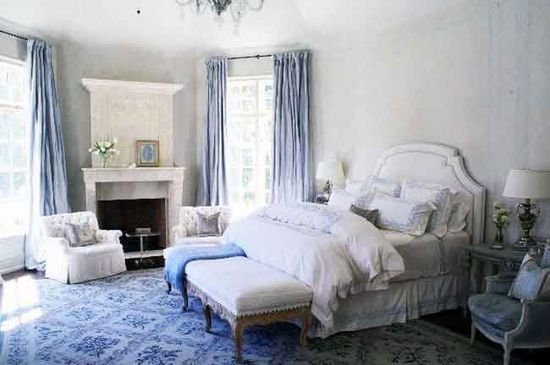 Une chambre en bleu et blanc - Chambre bleu et blanc ...