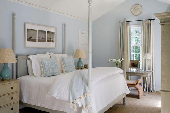 Couleur Peinture Salle De Bain : Cette chambre a été réalisée par la décoratrice américaine