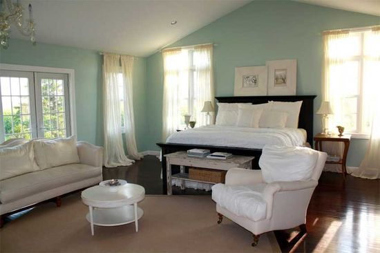 Blue and brown paint colors for bedrooms - Une Chambre Quot Shabby Chic Quot